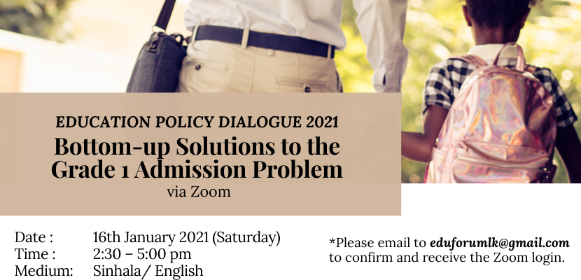 Policy Dialogue #11 Bottom-up Solutions to the Grade 1 Admission Problem